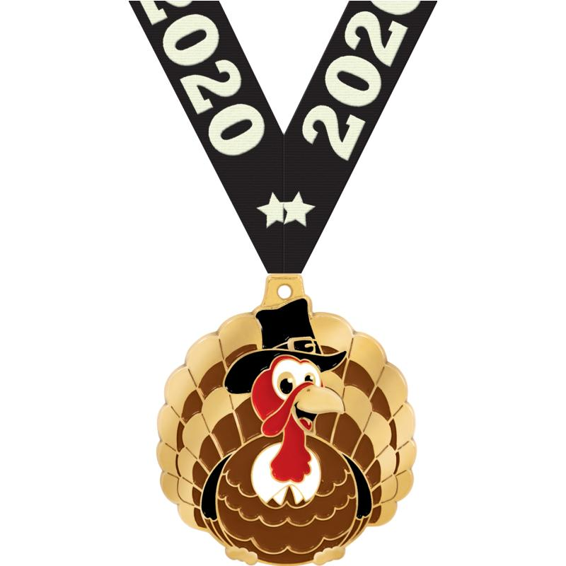 "2"" THANKSGIVING TURKEY MEDAL"
