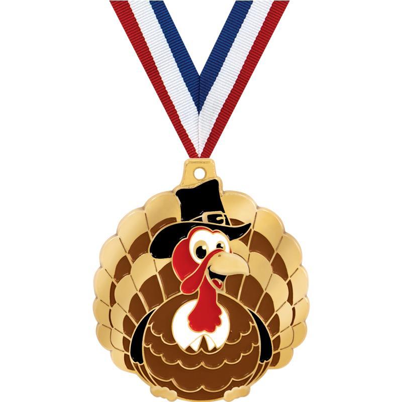 """2"""" THANKSGIVING TURKEY MEDAL"""