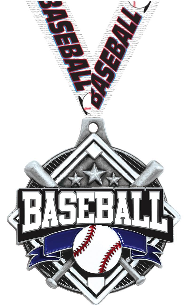"2 1/4"" Baseball Shieldz Medals"