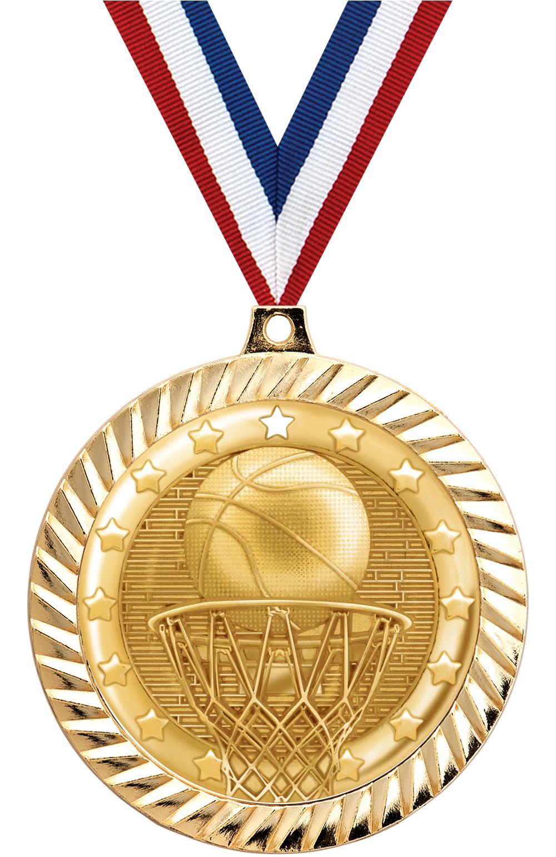 "2 1/2"" DIAMOND CUT MEDAL GOLD"