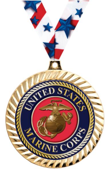 "2 1/2"" DIAMOND CUT MEDAL GOLD"