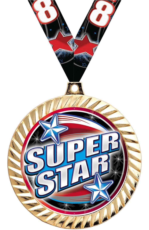 "2 1/2"" Diamond Cut Insert Medal"