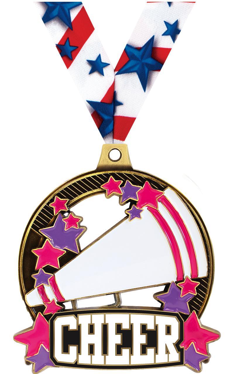 """2 1/4"""" Cheer Shieldz Medals"""