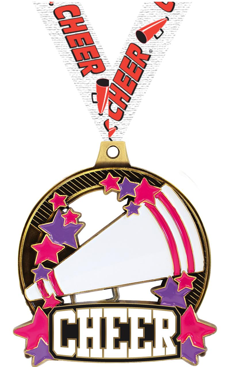 "2 1/4"" Cheer Shieldz Medals"