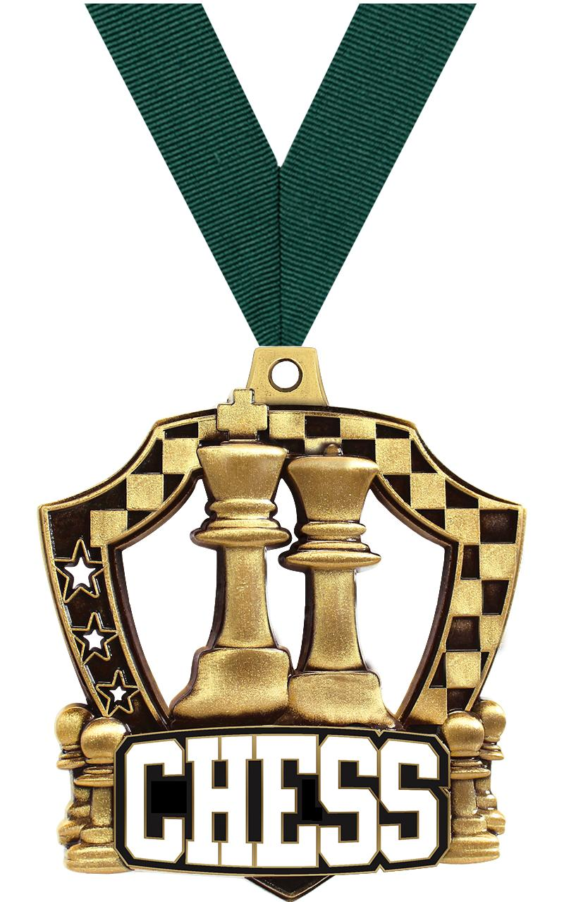 "2 1/4"" Chess Shieldz Medals"