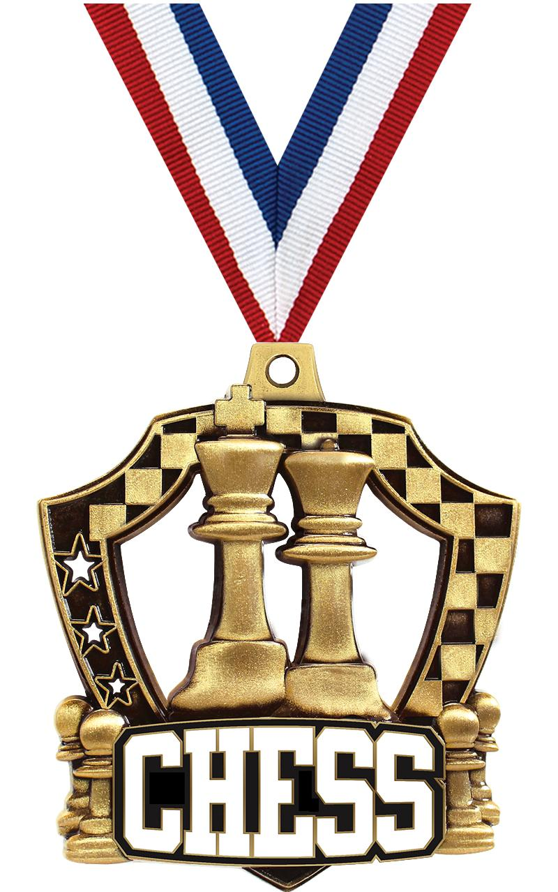 "2 1/4"" Chess Shieldz Medals"