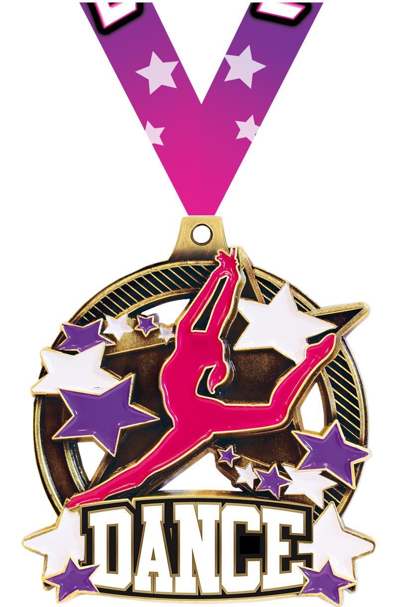 "2 1/4"" Dance Shieldz Medals"