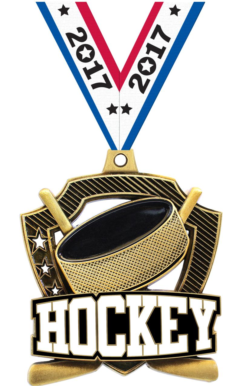 "2 1/4"" Hockey Shieldz Medals"