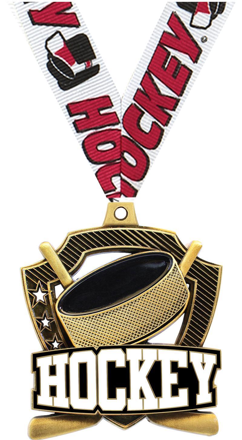 "2 1/4"" Hockey Shieldz Medals"