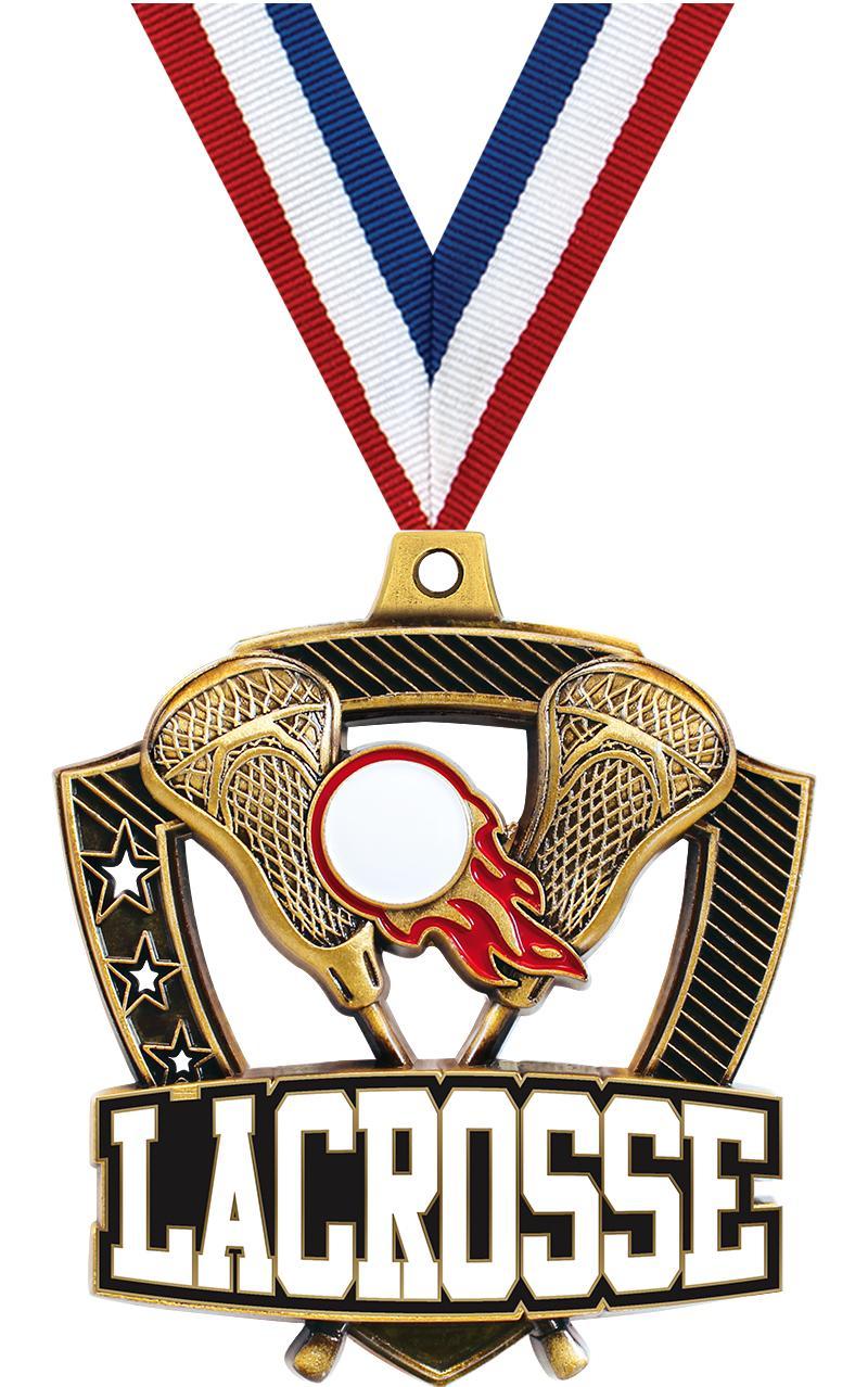 """2 1/4"""" Lacrosse Shieldz Medals"""