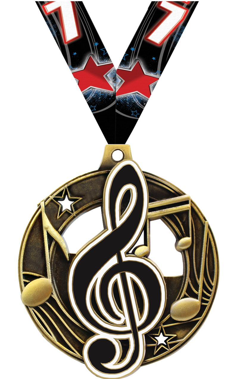 "2 1/4"" Music Shieldz Medals"