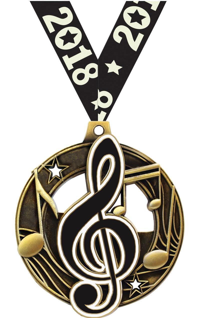 "2 1/4"" Music Shieldz Medals"