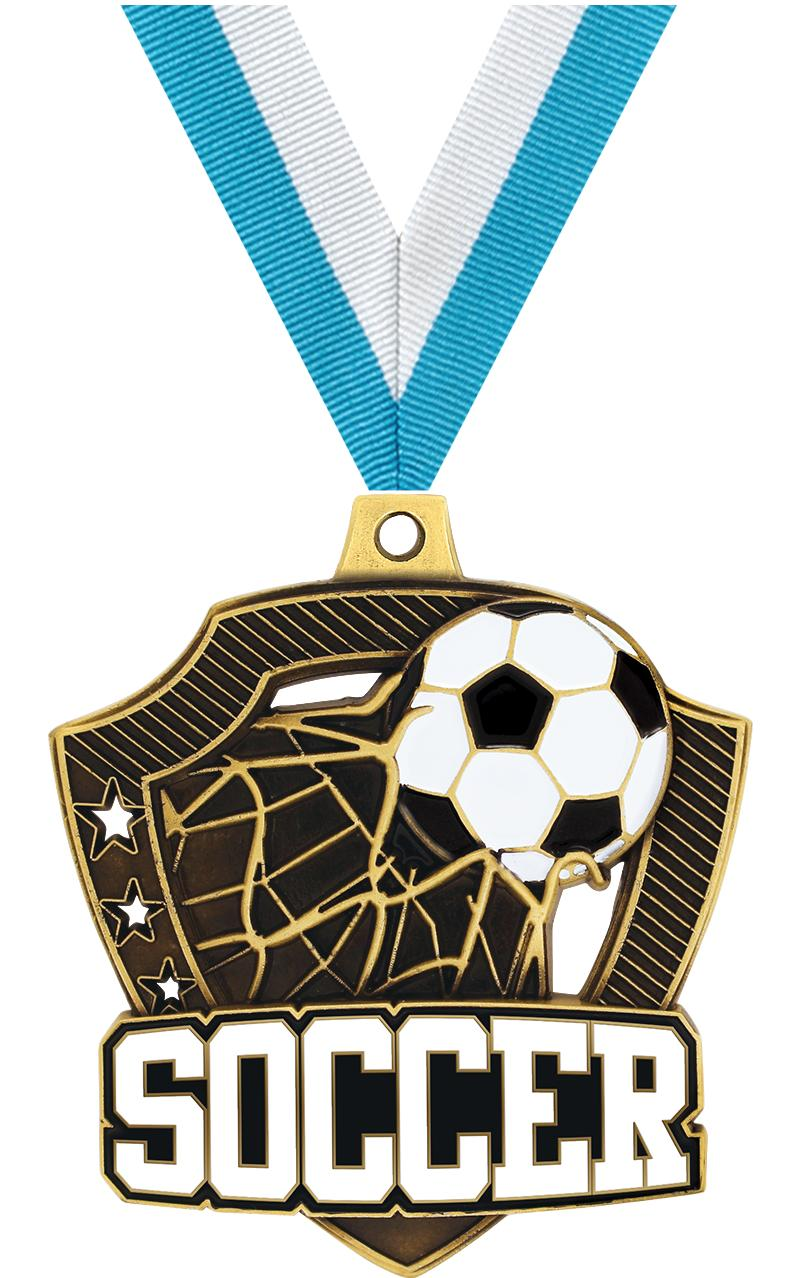 "2 1/4"" Soccer Shieldz Medals"