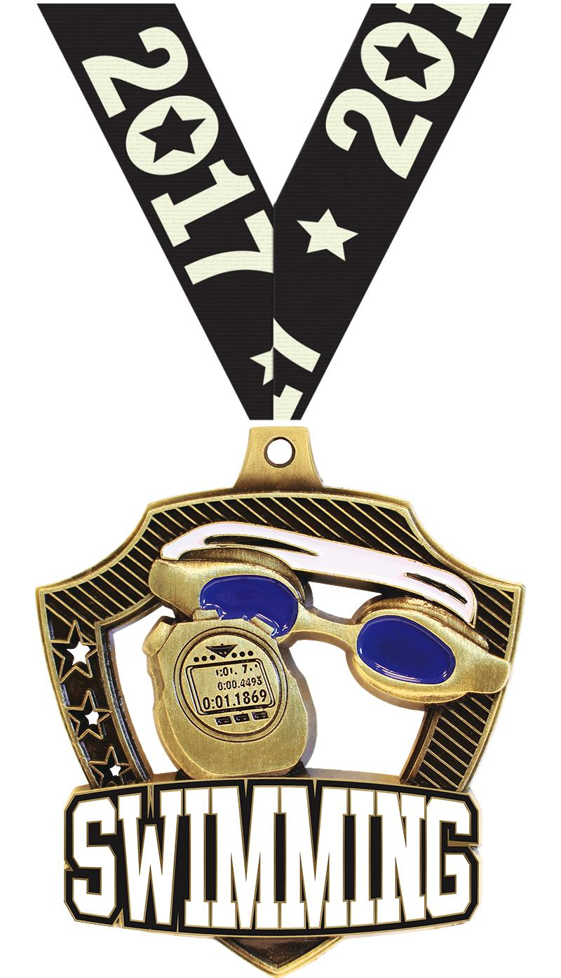 "2 1/4"" Swim Shieldz Medals"