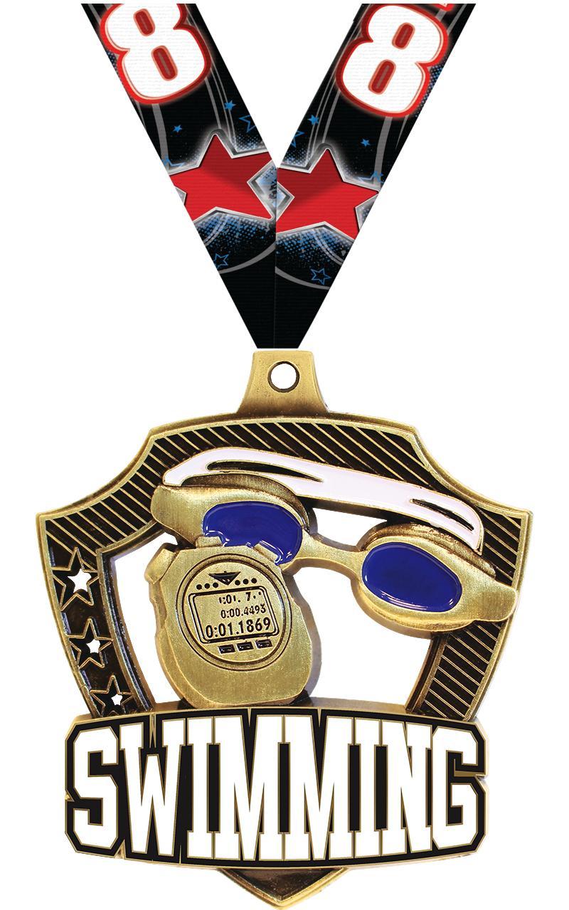 """2 1/4"""" Swim Shieldz Medals"""