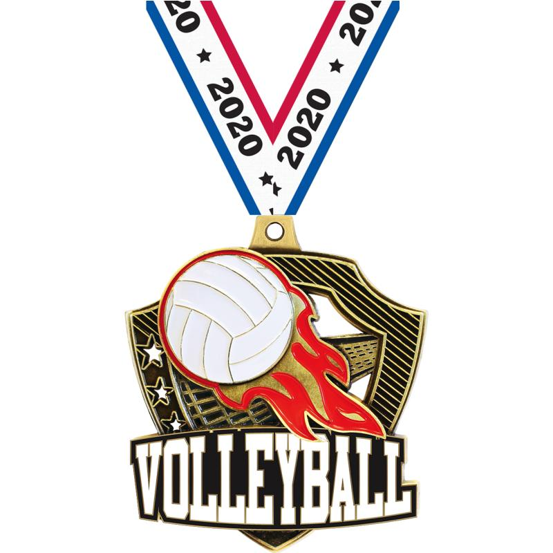 "2.25"" SHIELDZ VOLLEYBALL GLD"