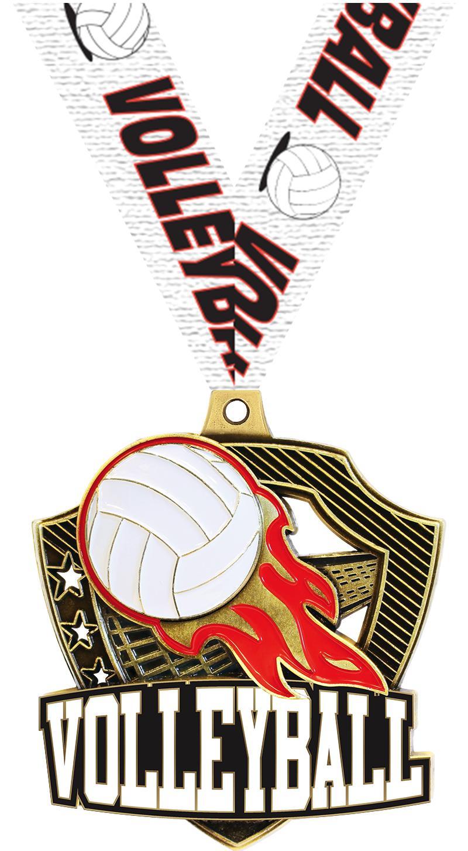 """2 1/4"""" Volleyball Shieldz Medals"""