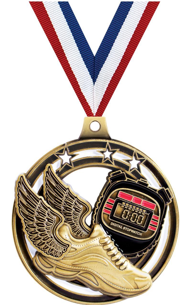 "2 1/4"" Winged Foot Shieldz Medals"