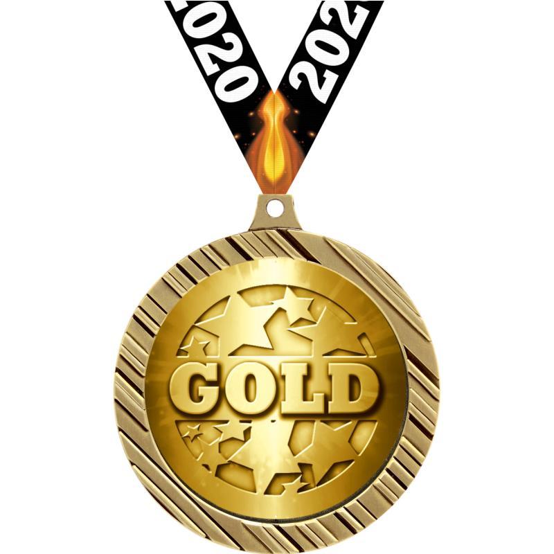 """2.5""""VELOCITY INSERT MEDAL GOLD"""