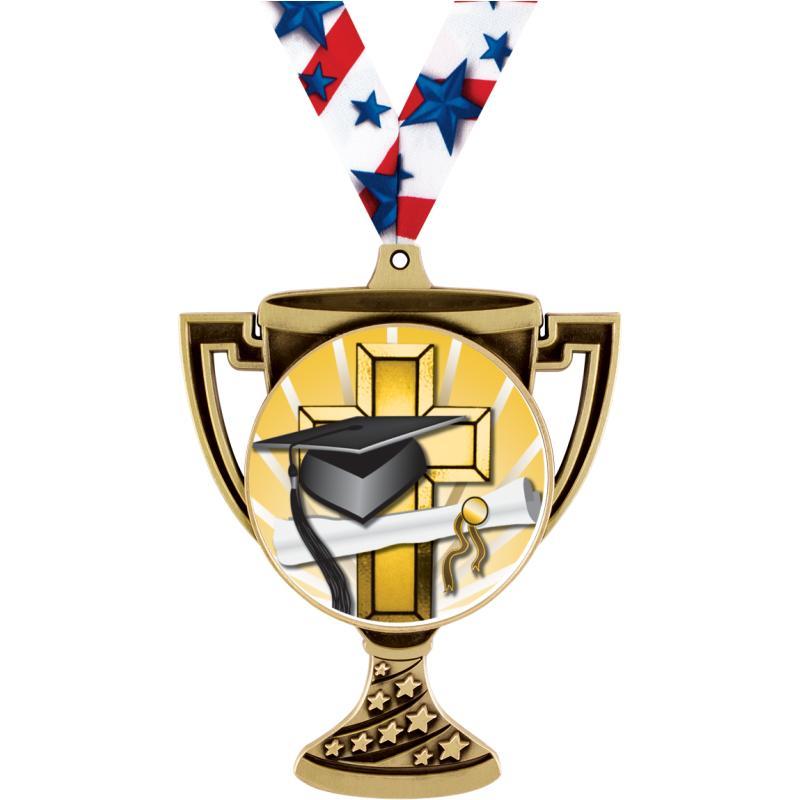 "3"" TROPHY CUP MEDAL GOLD"