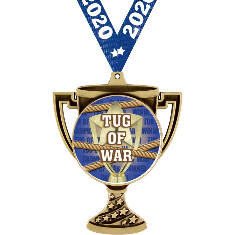 "3"" TROPHY CUP MEDAL GOLD"