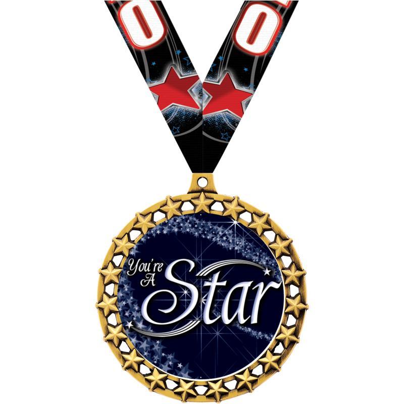 """2.5""""GALAXY STAR BLANK MEDAL GL"""