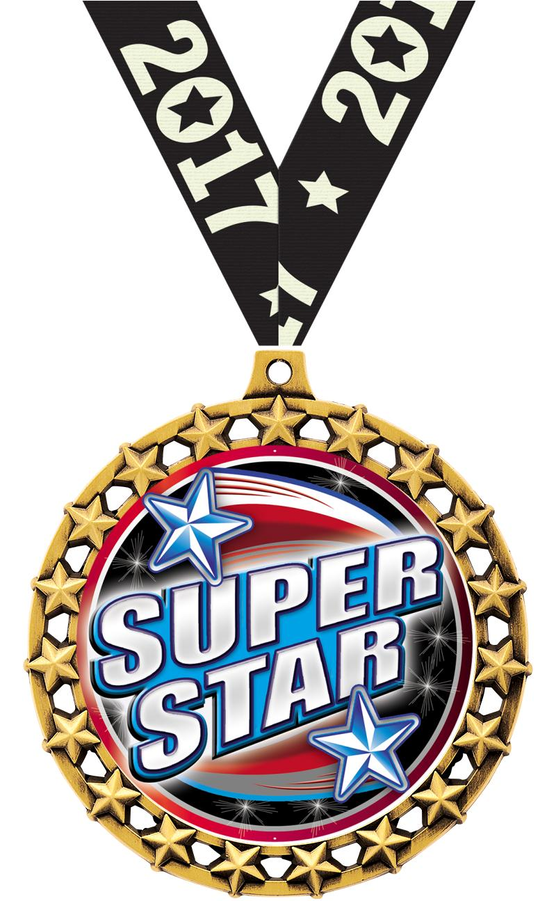 "2 1/2"" Galaxy Star Medals"