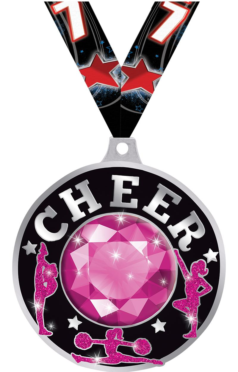 "2 1/4"" Cheer Dazzle Medals"