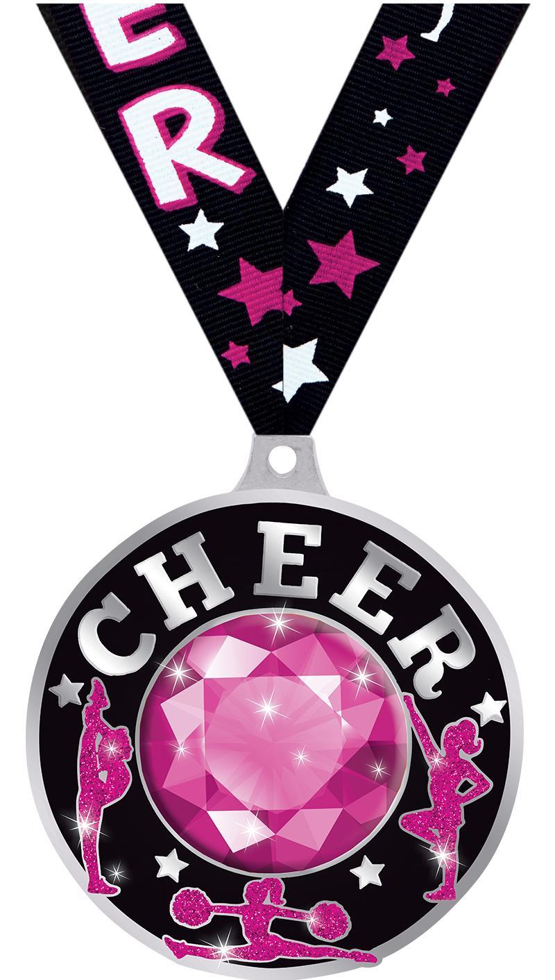 """2 1/4"""" Cheer Dazzle Medals"""