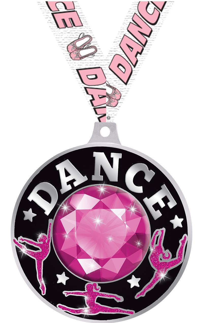 "2.25"" DAZZLE PINK DANCE MD SLV"