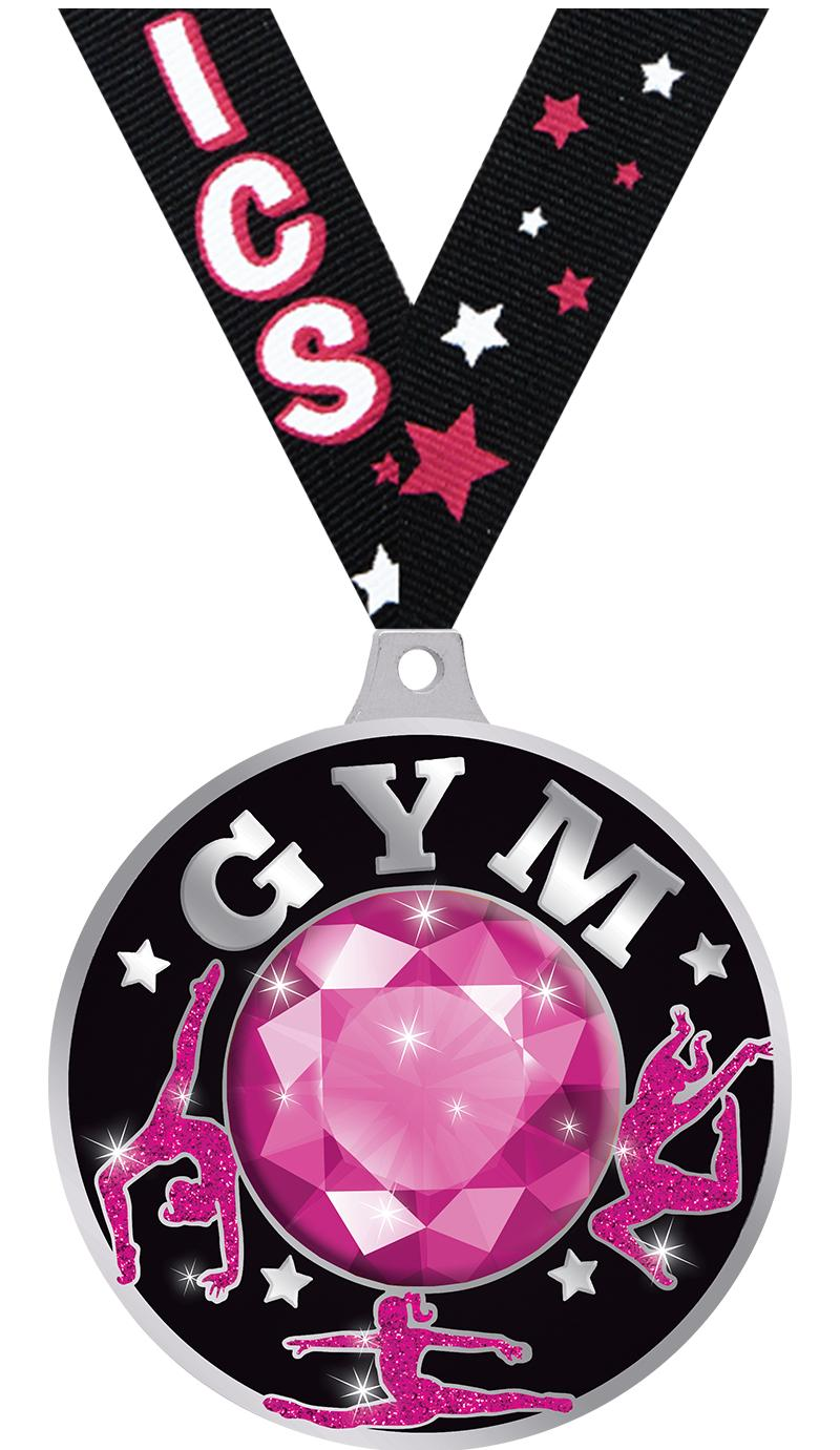 "2.25"" DAZZLE PINK GYM MD SLV"