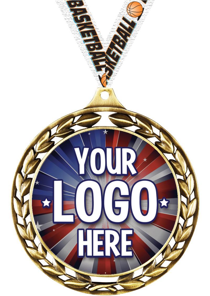 "2 1/2"" Laurel Wreath Medal"
