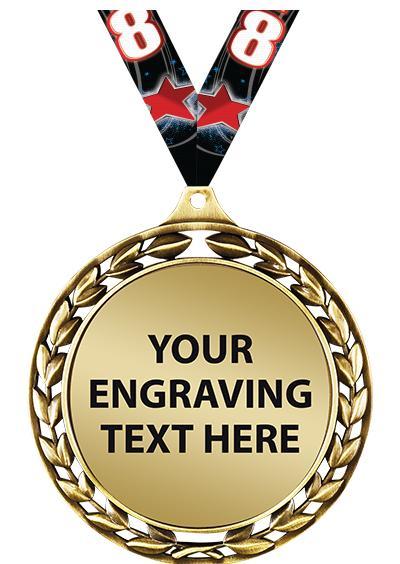 """2 1/2"""" Laurel Wreath Engraving Medal"""