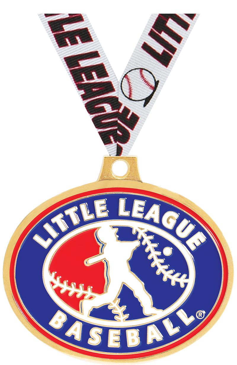 "2.25"" LITTLE LEAGUE BB GLD MDL"