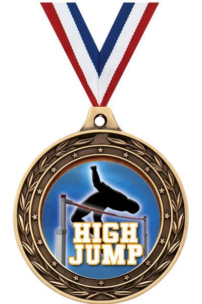 "2"" High Jump Victor Dual Medal"