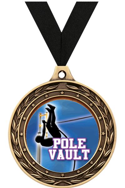 "2"" Pole Vault Victor Dual Finish Medal"
