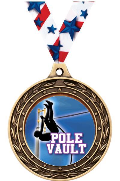 "2"" Pole Vault Victor Dual Finish Medal"