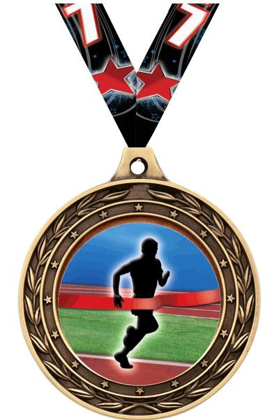 "2"" Finish Line Male Victor Dual Medal"