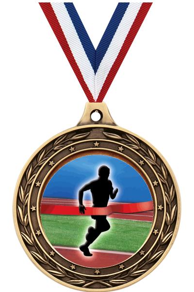 """2"""" Finish Line Male Victor Dual Medal"""