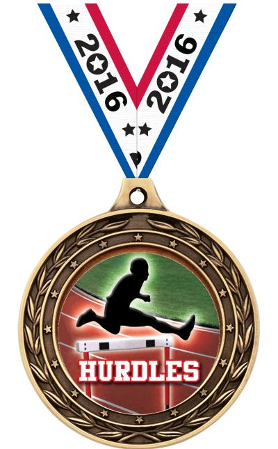 "2"" Hurdles Victor Dual Medal"