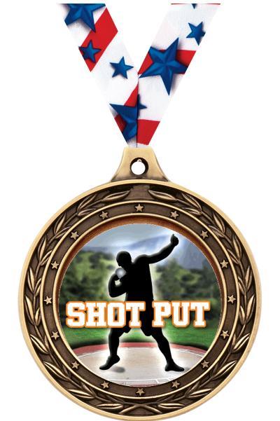 "2"" Shot Put Victor Dual Medal"