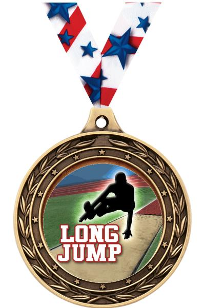 "2"" Long Jump Victor Dual Medal"
