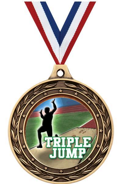 "2"" Triple Jump Victor Dual Medal"
