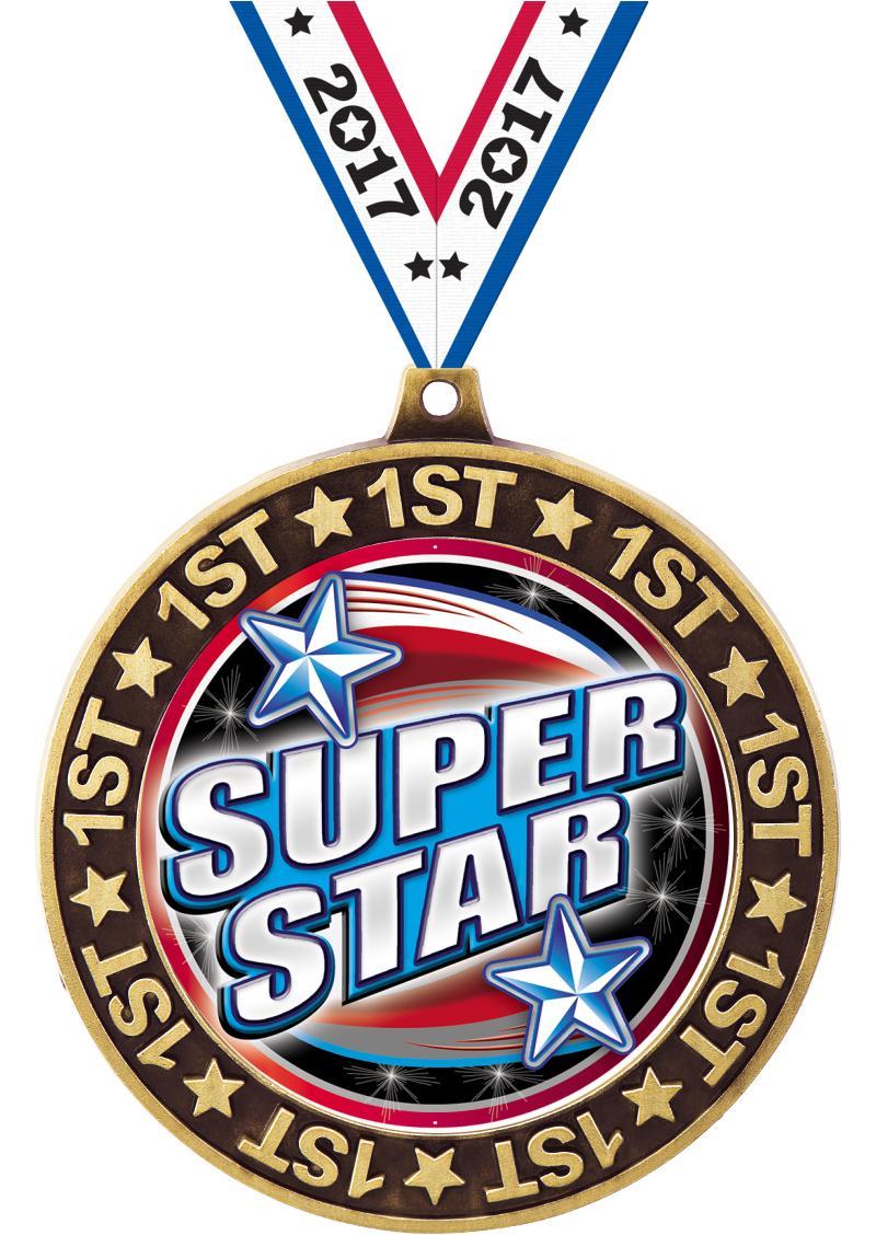 "2 3/4"" 1st Place Perimeter Medal"
