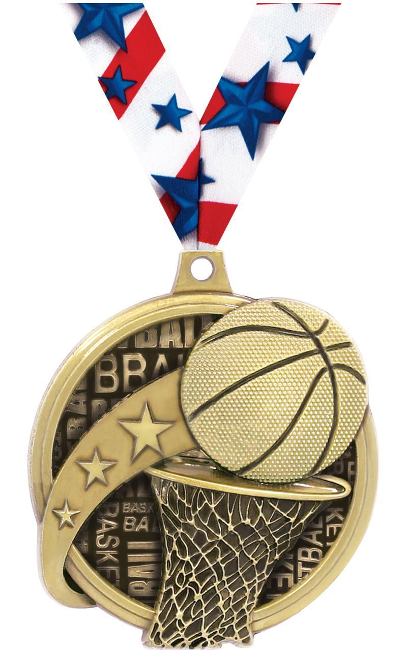 """2"""" Kudos Basketball Medals"""