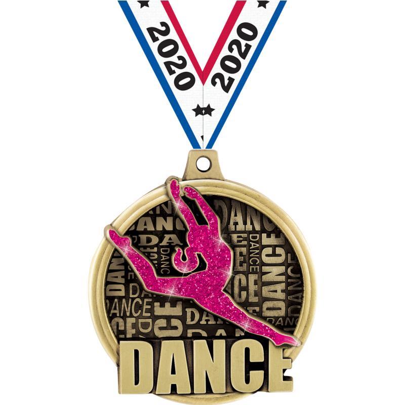 "2"" KUDOS DANCE MEDAL GOLD"