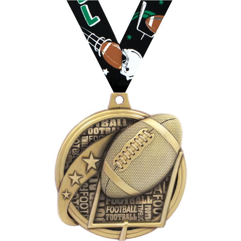 """2"""" KUDOS FOOTBALL GOLD MDL"""
