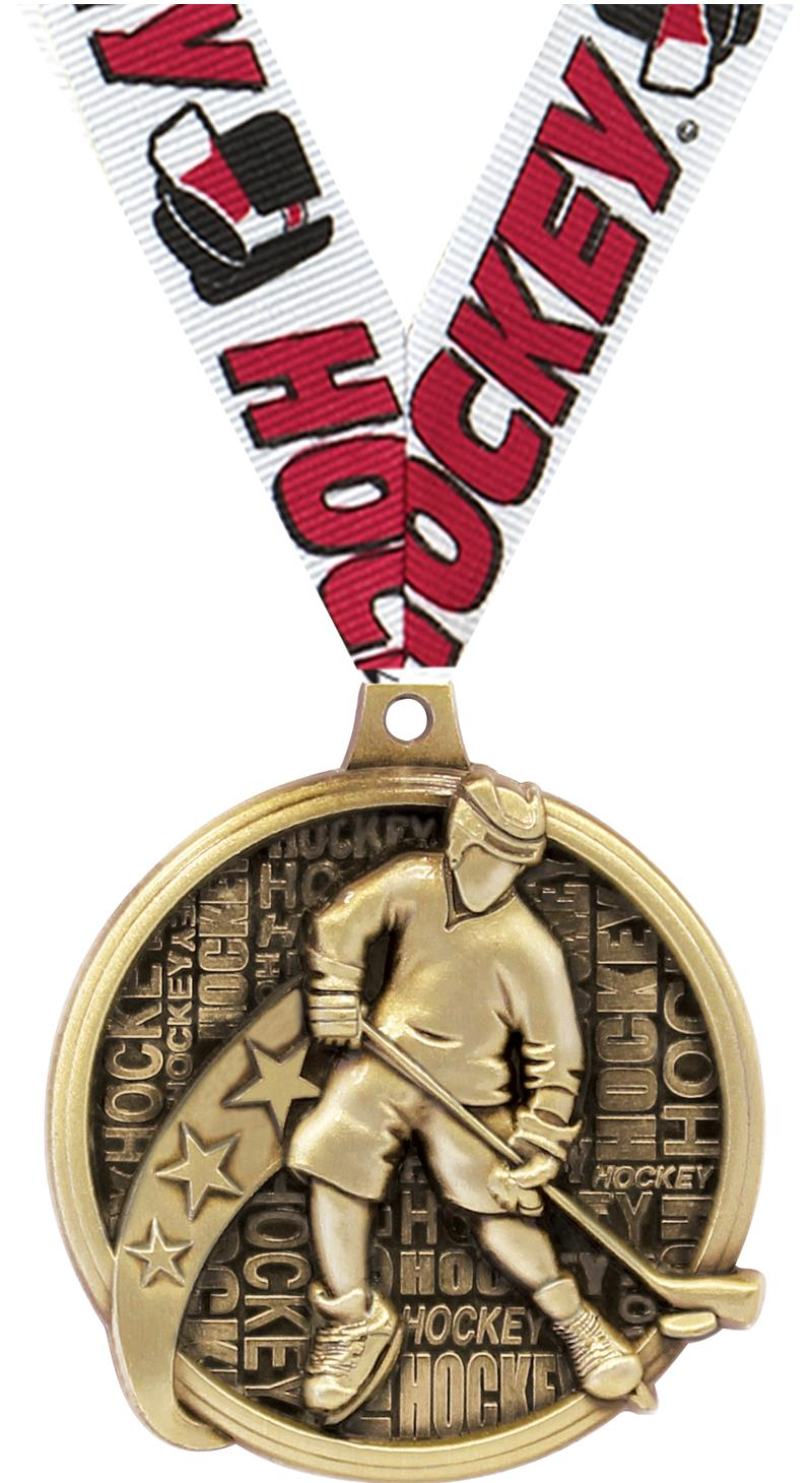 """2"""" Kudos Hockey Medals"""