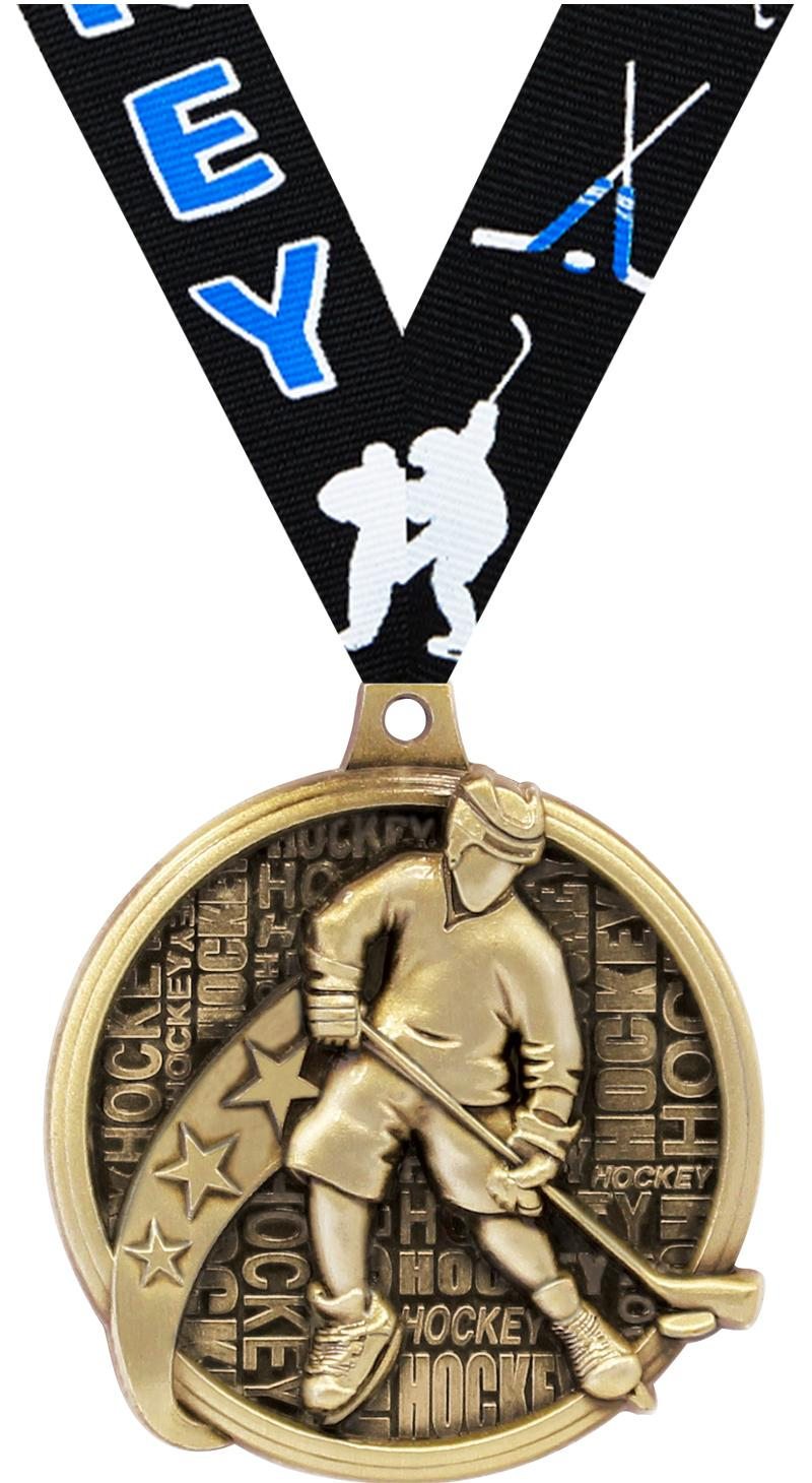 "2"" KUDOS HOCKEY GOLD MEDAL"