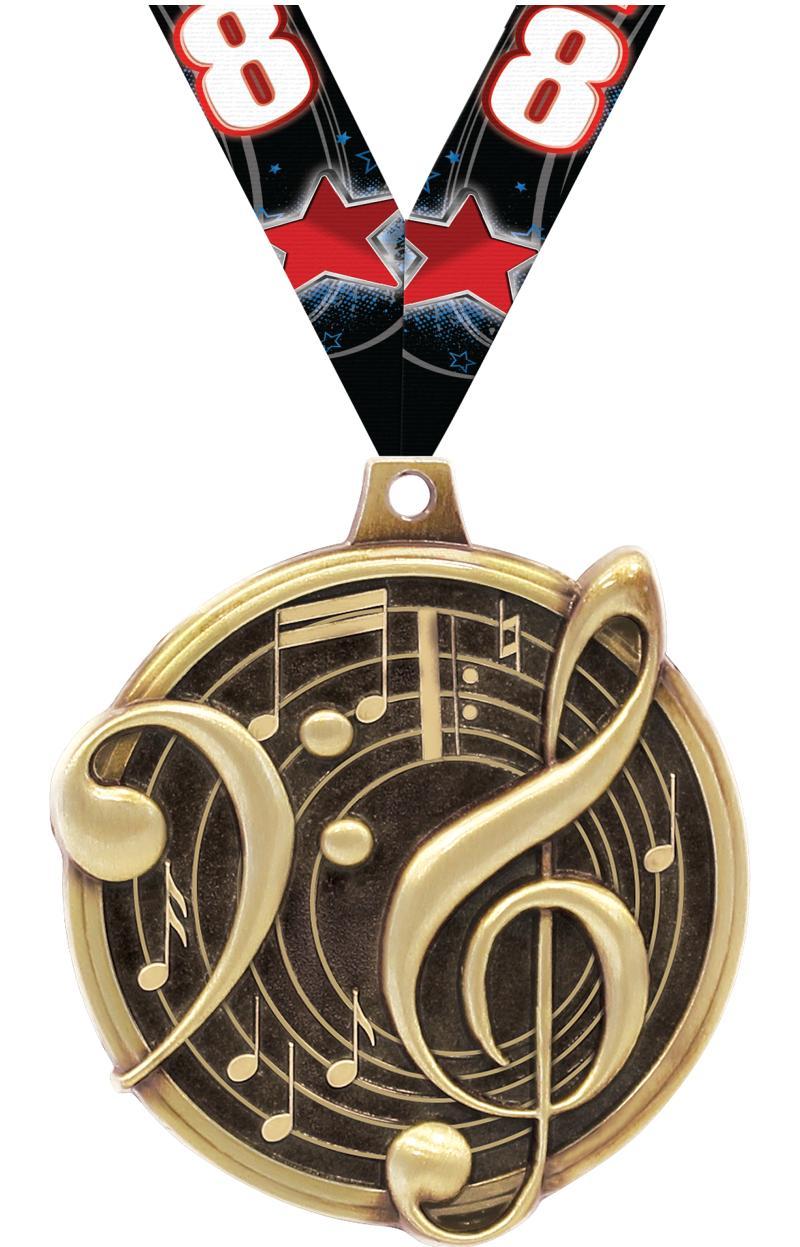 """2"""" KUDOS MUSIC GOLD MDL"""